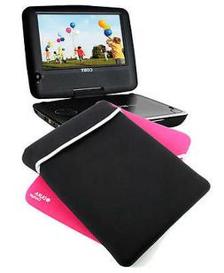 """10"""" Reversible Black/Pink Portable DVD Player Sleeve/Case Fo"""