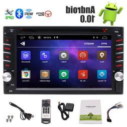 6.2'' Android 10.0 WiFi Double 2Din Car Radio Stereo GPS Nav