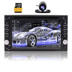 """6.2"""" Double 2 Din Car Radio Stereo DVD Player GPS Navi With"""