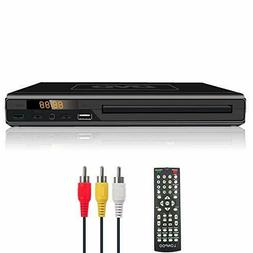 LONPOO DVD Player for TV, All Region Free DVD CD Discs Playe