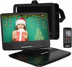 "HDJUNTUNKOR Portable DVD Player with 10.1"" HD Swivel Display"