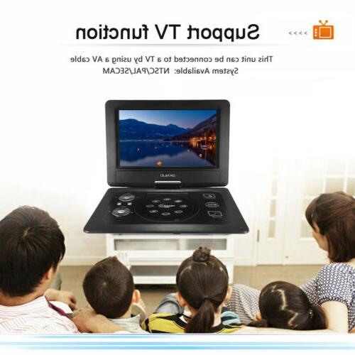 10.1 Inch Portable DVD Player for Game TV Square Dancing Mul