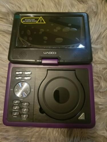 COOAU Portable Player Screen, 5 Built-in Purple