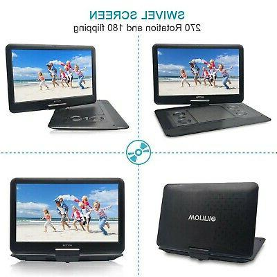 WONNIE DVD/CD Player with Swivel Screen, ...