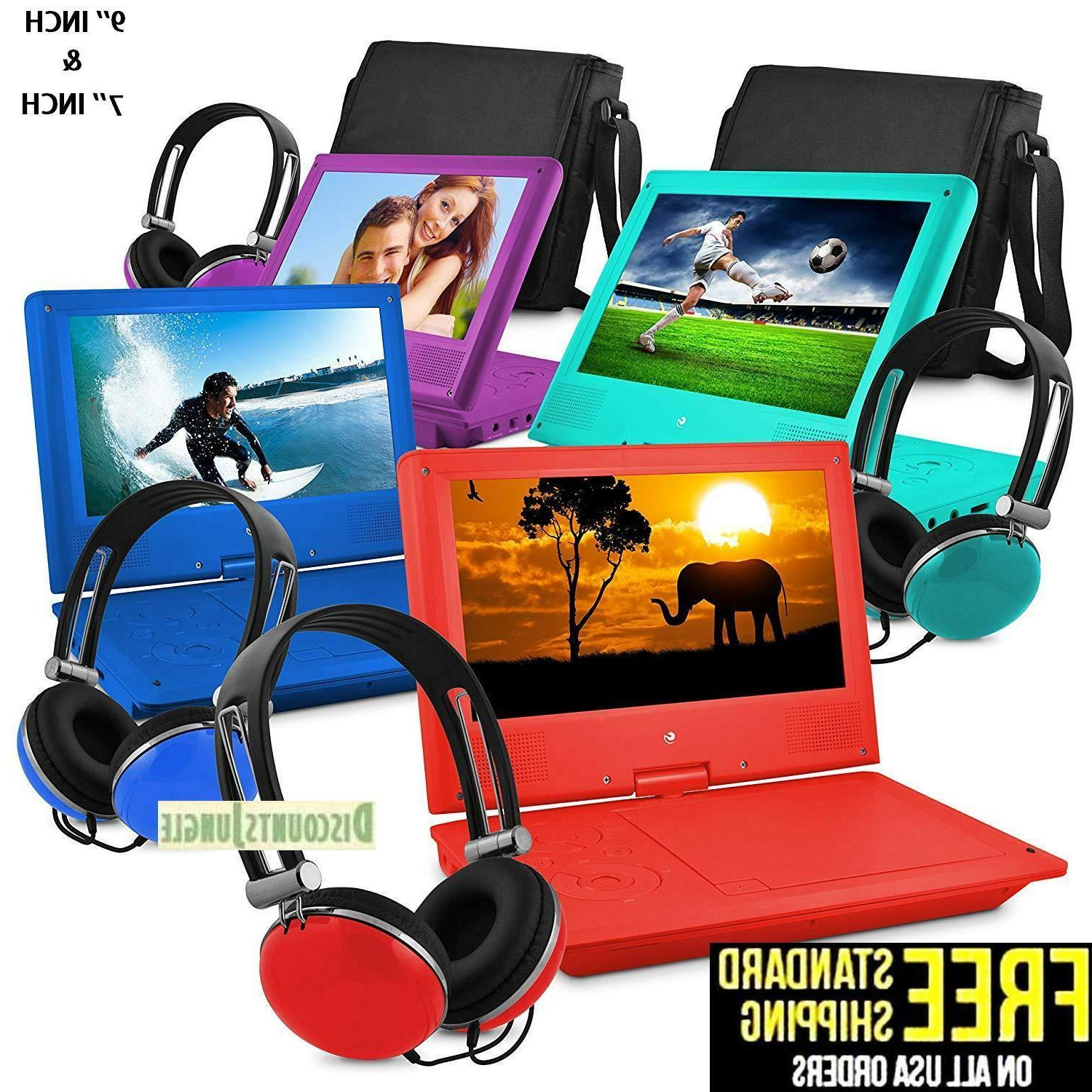 7 and 9 portable personal dvd player