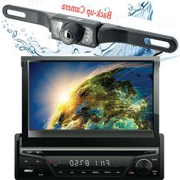 Gravity Single DIN Touch DVD/CD Player AM/FM Car Stereo with